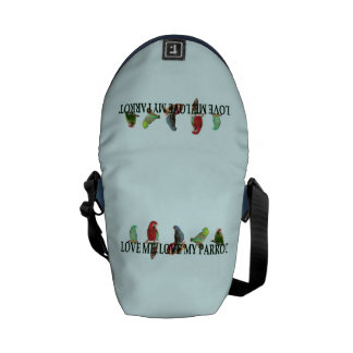 Love Me, Love My Parrot Courier Bag