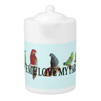 Love Me, Love My Parrot Teapot