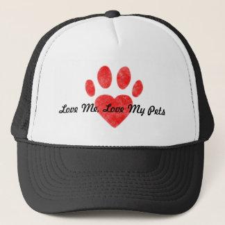 """''Love Me, Love My Pets"""" Trucker Hat"""