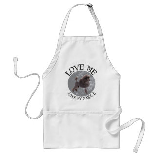 Love me, love my Poodle Adult Apron