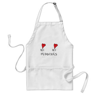 love me love my puddings, tony fernandes adult apron