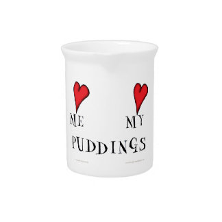 love me love my puddings, tony fernandes drink pitcher