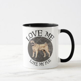 Love me, love my Pug Mug