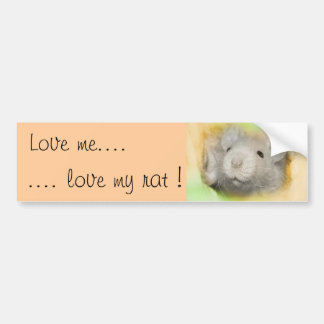 Love me..love my rat bumper sticker