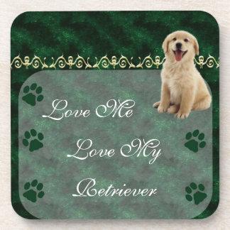 Love Me Love my Retriever Coaster set
