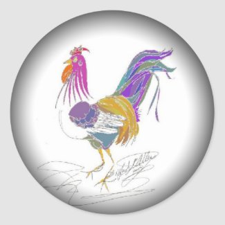 Love Me Love My Rooster Classic Round Sticker