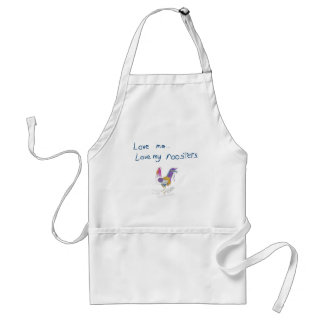 Love Me, Love My Roosters Apron
