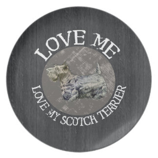 Love Me, Love My Scotch Terrier Party Plates