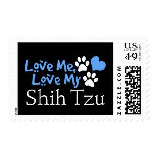 Love Me, Love My Shih Tzu Stamps
