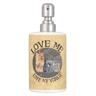 Love Me Love My Yorkie Bathroom Set