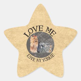 Love Me, Love My Yorkie Sticker