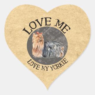 Love Me, Love My Yorkie Stickers