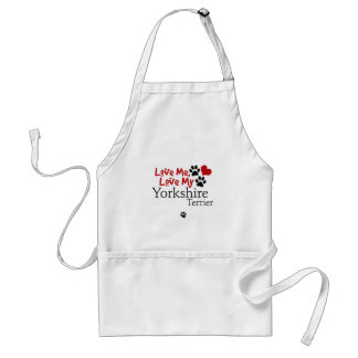 Love Me, Love My Yorkshire Terrier Adult Apron