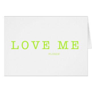 LOVE ME  PLEEZE - series Card