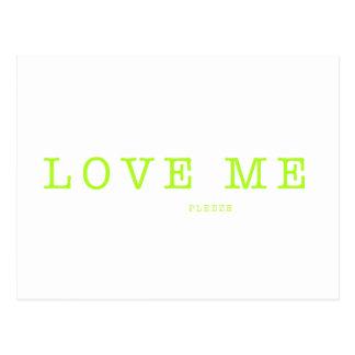LOVE ME  PLEEZE - series Postcard
