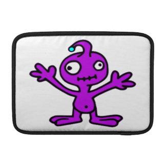Love Me Purple Alien MacBook Sleeve