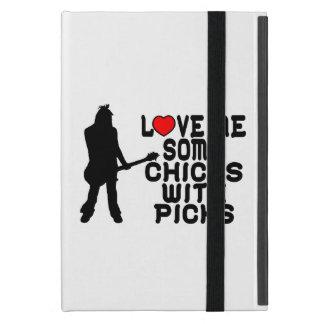 Love Me Some Chicks With Picks iPad Mini Covers