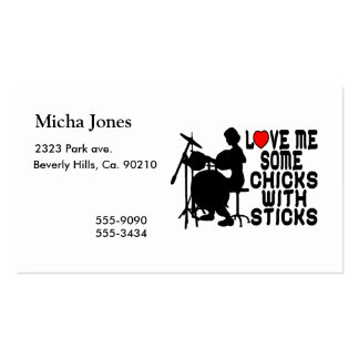 Love Me Some Chicks With Sticks Business Card