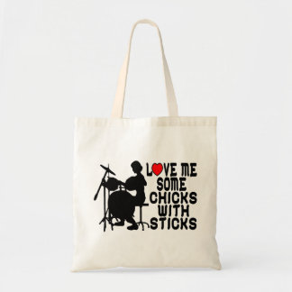 Love Me Some Chicks With Sticks Tote Bag