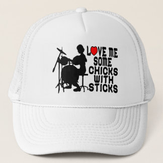Love Me Some Chicks With Sticks Trucker Hat