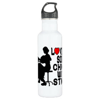 Love Me Some Chicks With Sticks Water Bottle