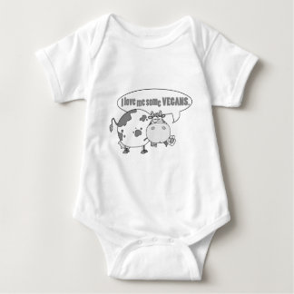 LOVE ME SOME VEGANS BABY BODYSUIT