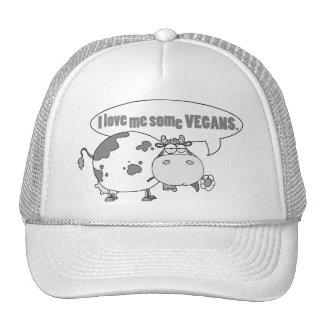 LOVE ME SOME VEGANS TRUCKER HATS