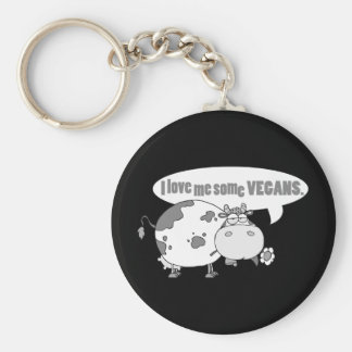 LOVE ME SOME VEGANS KEYCHAIN
