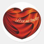 Love Me Tender Classic Round Sticker