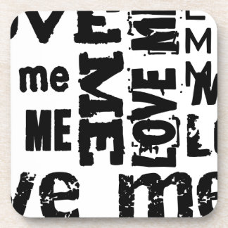 LOVE ME TYPOGRAPHY DRINK COASTERS