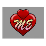Love me with hearts. post cards