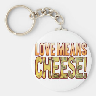 Love Means Blue Cheese Keychain