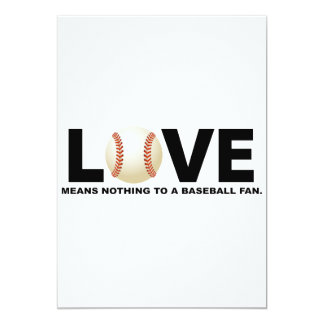Love Means Nothing to a Baseball Fan Card