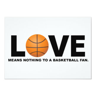 Love Means Nothing to a Basketball Fan Card
