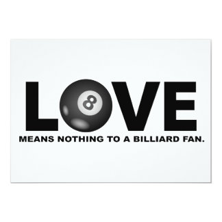 Love Means Nothing to a Billiard Fan Card