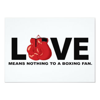 Love Means Nothing to a Boxing Fan Card