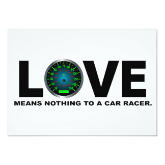 Love Means Nothing to a Car Racer 3 Card
