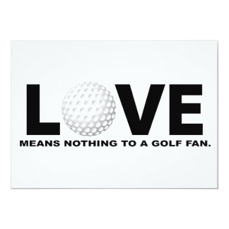 Love Means Nothing to a Golf Fan Card