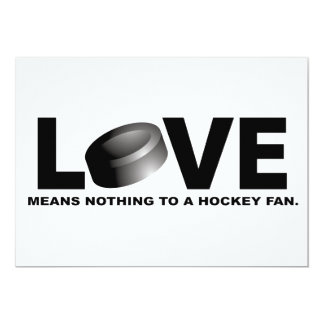 Love Means Nothing to a Hockey Fan Card