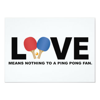 Love Means Nothing to a Ping Pong Fan Card