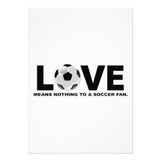 Love Means Nothing to a Soccer Fan Personalized Announcement