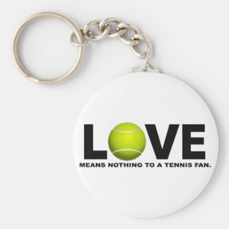 Love Means Nothing to a Tennis Fan Keychain