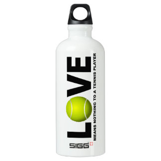 Love Means Nothing to a Tennis Player Aluminum Water Bottle