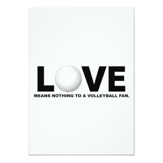 Love Means Nothing to a Volleyball Fan 1 Card