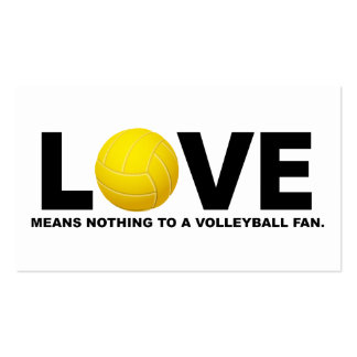 Love Means Nothing to a Volleyball Fan 2 Business Card