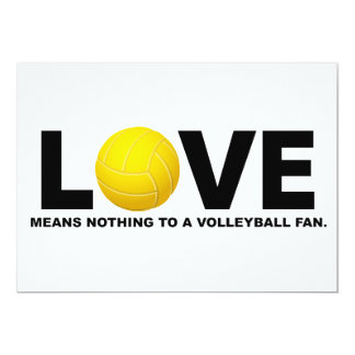 Love Means Nothing to a Volleyball Fan 2 Card