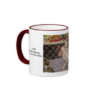 LOVE means sharing your Life... Ringer Mug