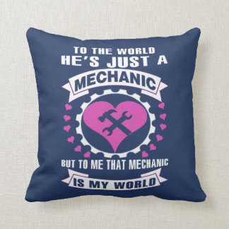 Love Mechanic Throw Pillow