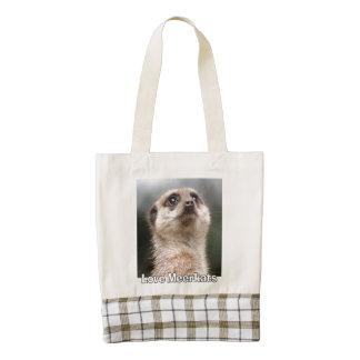 Love Meerkats Zazzle HEART Tote Bag