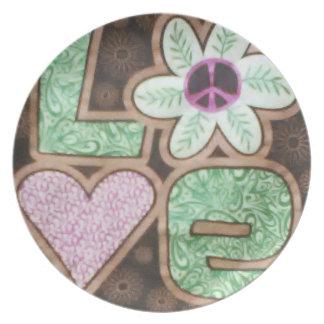 Love Melamine Plate 1